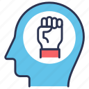 be strong, brain power, brain training, cognitive training, mind, strong, training icon