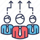 business team, human, human resource, leadership, management team, resource, same approach icon
