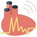cardiogram, electrocardiogram, healthcare, heart, medical, pulse, rate icon