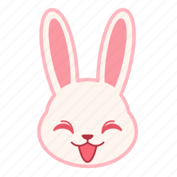 emoji, emotion, expression, face, rabbit, smile icon