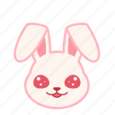 emoji, emotion, expression, face, innocence, rabbit icon