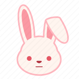 emoji, emotion, expression, face, neutral, rabbit icon