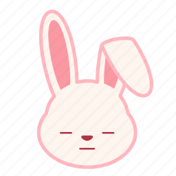 dull, emoji, emotion, expression, face, rabbit icon