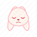 emotion, face, rabbit, expression, dull, emoji