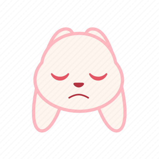 dull, emoji, emotion, expression, face, rabbit icon