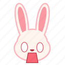 emoji, emotion, expression, face, fearful, rabbit icon