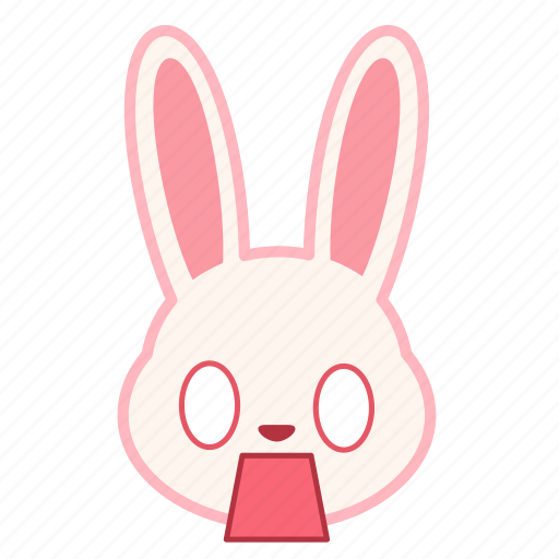 emoji, emotion, expression, face, fearful, rabbit icon