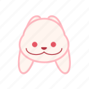 emoji, emotion, expression, face, rabbit, smile icon