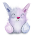 animal, cute, pink, rabbit icon