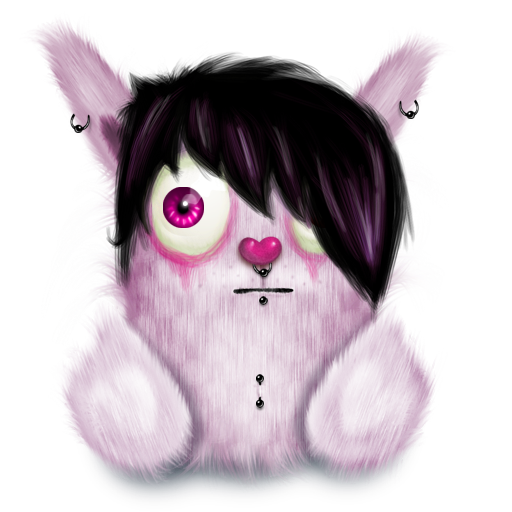 animal, emo, pink, rabbit icon