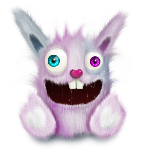 animal, elonizm, pet, pink, rabbit, smile icon