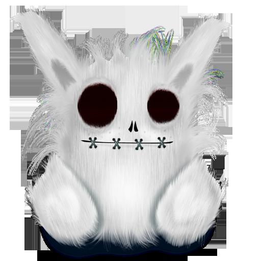 animal, rabbit, white icon