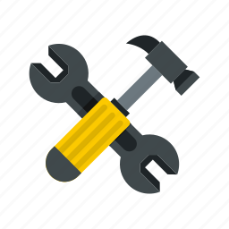 hammer, industry, repair, spanner, tool, work, wrench icon