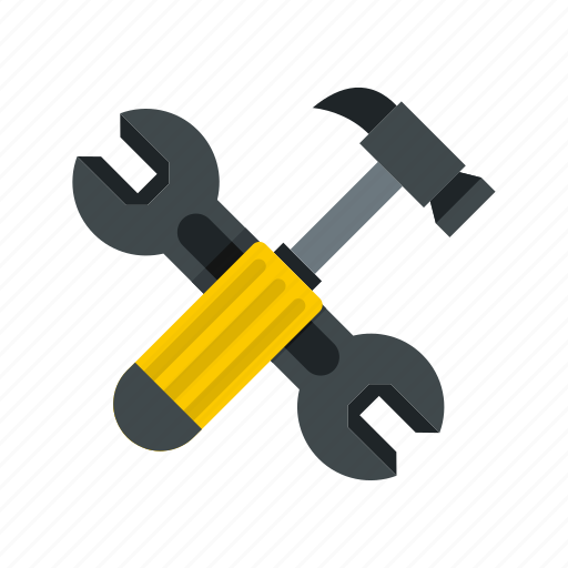 Hammer, industry, repair, spanner, tool, work, wrench icon - Download on Iconfinder