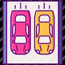 parade, lap, car, race icon