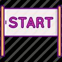 start, line, race, starting