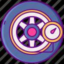 tire, pressure, wheel icon