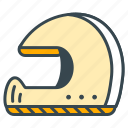 helmet, racing, road, safety, vehicle icon