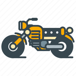 motorbike, motorcycle, racing, road, vehicle icon