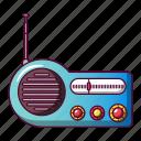 antenna, broadcasting, cartoon, old, portable, radio, technology icon