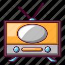 cartoon, old, radio, retro, sound, speaker, wireless icon