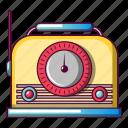 am, cartoon, fm, object, radio, speaker, vintage icon