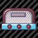 antenna, antique, broadcast, cartoon, classic, entertainment, radio