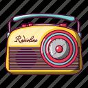 broadcasting, cartoon, old, radio, radioline, retro, transistor icon