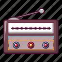 audio, broadcast, broadcasting, cartoon, classic, modern, radio icon