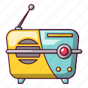 cartoon, electronics, listen, music, portable, radio, small icon