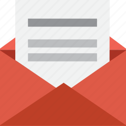 contact, document, email, letter, mail, message, open icon