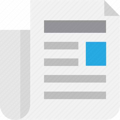document, feed, letter, mail, message, news, paper icon