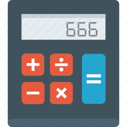 calc, calculation, calculator, education, math, schools, tools icon