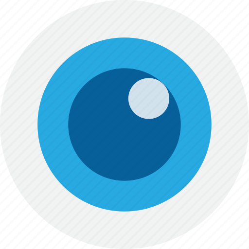 blue, discovery, explore, eye, look, search, watch icon