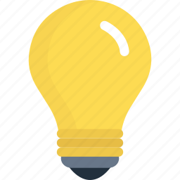 bulb, electric, energy, idea, lamp, light, power icon