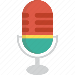 announcer, microphone, speaker, station icon