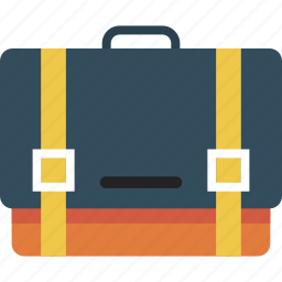 business, hand, man, portfolio, suitcase icon