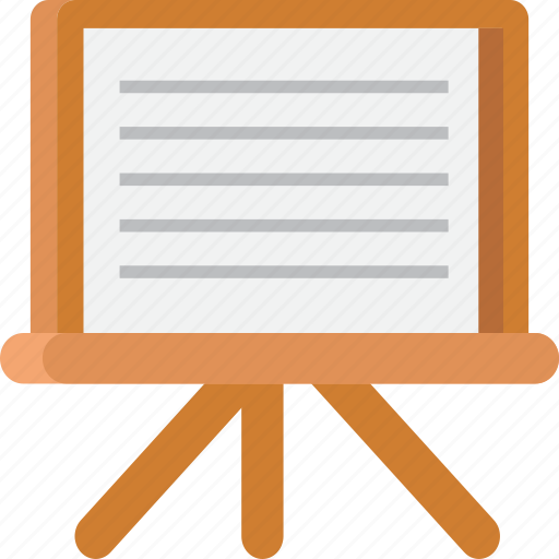 artboard, easel, school, study, table icon