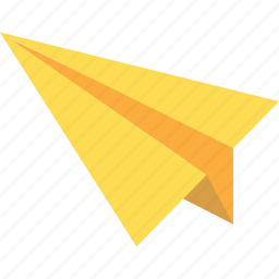 airplane, communication, email, letter, send icon