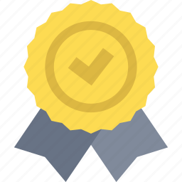 award, badge, first, gold, medal, prize, winner icon