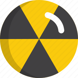attention, burn, danger, floppy, nuclear, risk icon
