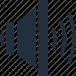 control, full, player, sound, volume icon