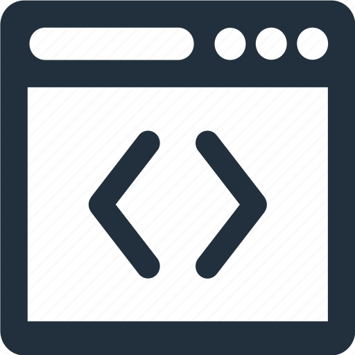 bar, browser, code, coding, programming icon
