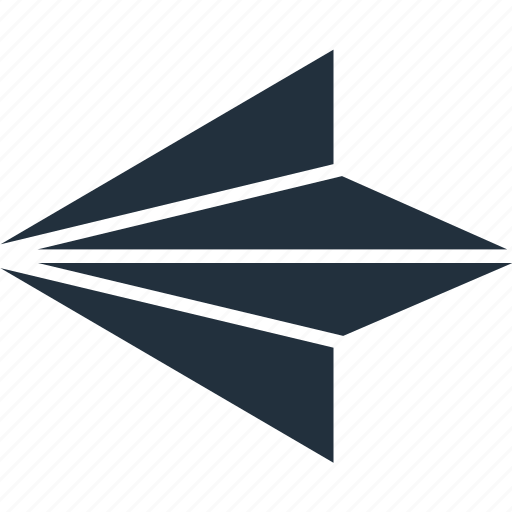 aircraft, arrow, direction, left icon