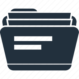 file, folder, paper, papers icon