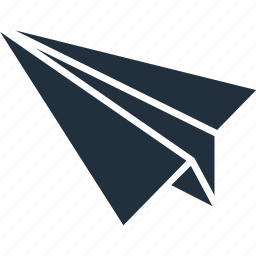 aircraft, delivery, email, letter, message, send, service icon