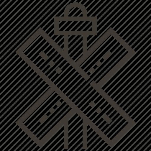 crossing, railroad, railway, sign, train icon