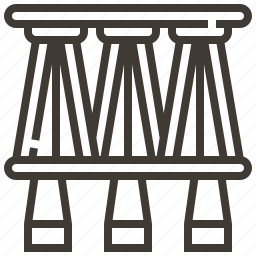bridge, railroad, railway, train icon