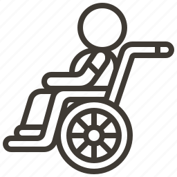avatar, disability, person, wheelchair icon