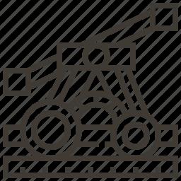 pump car, railroad, railway, train icon